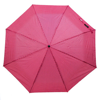 12pc Pack Polka-Dot Telescopic Canopy Hand Open Umbrella UM3115