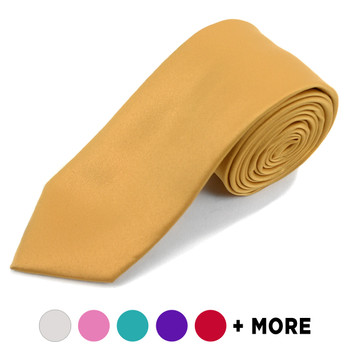 "[Promotion] Poly Satin Solid 2.75"" Slim Tie PSSP2501"