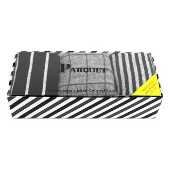 Fancy Multi Colored Socks Striped Gift Box (3 Pairs in Box) MFS1010