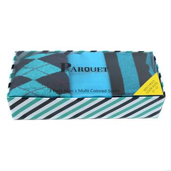 Fancy Multi Colored Socks Striped Gift Box (3 Pairs in Box) MFS1012