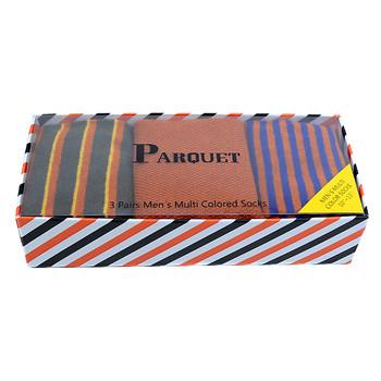 Fancy Multi Colored Socks Striped Gift Box (3 Pairs in Box) MFS1015