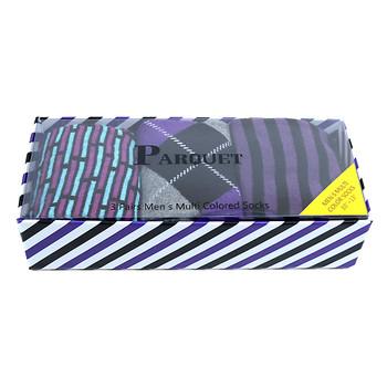 Fancy Multi Colored Socks Striped Gift Box (3 Pairs in Box) MFS1026