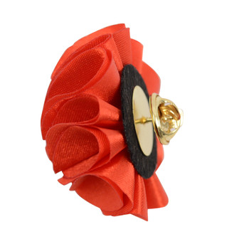 Solid Mini Bouquet Clutch Back Flower Lapel Pins (F10084N-C)