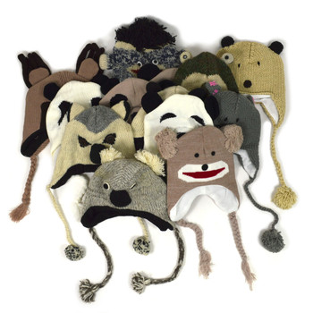 117ef6e7eb848 12pc Prepack Assorted Knit Animal Hats AH12ASST