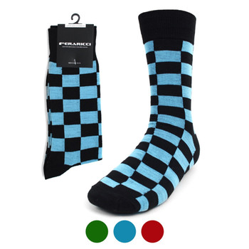 Men's Checkered Feraricci Sock MFSI3476