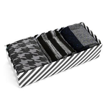 Fancy Multi Colored Socks Striped Gift Box (3 Pairs in Box) MFS1011