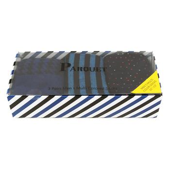 Fancy Multi Colored Socks Striped Gift Box (3 Pairs in Box) MFS1014