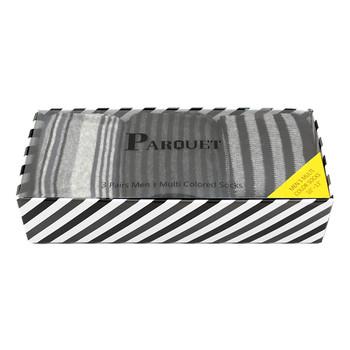 Fancy Multi Colored Socks Striped Gift Box (3 Pairs in Box) MFS1022