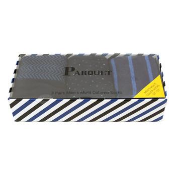 Fancy Multi Colored Socks Striped Gift Box (3 Pairs in Box) MFS1025