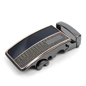 Men's Auto Lock Buckle Genuine Leather Waist Strap Dress Belt MGLBB1