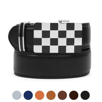 Men's Auto Lock Buckle Genuine Leather Waist Strap Dress Belt MGLBB5