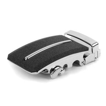 Men's Genuine Leather Sliding Buckle Ratchet Belt MGLBB8