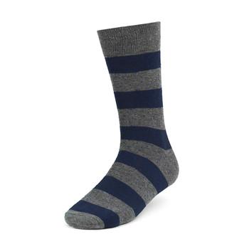 3pcs (3 Pairs) Men's Gray Fancy Dress Socks 3PKS-DRSY7