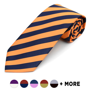 Men's X-Long Microfiber Poly Woven College Tie MPWC2400X