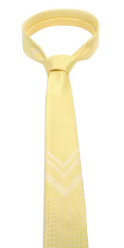 "Yellow Microfiber Poly Woven 2.25"" Slim Panel Tie - MPPW1601"