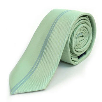 "Green Microfiber Poly Woven 2.25"" Slim Panel Tie - MPPW1603"