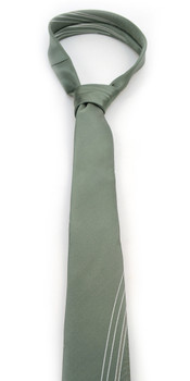 """Olive Microfiber Poly Woven 2.25"""" Slim Panel Tie - MPPW1604"""