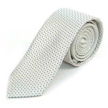 "Beige Microfiber Poly Woven 2.25"" Slim Panel Tie - MPPW1605"