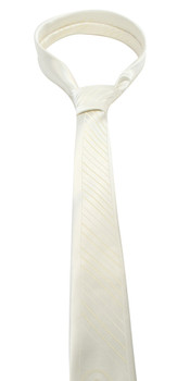"White Microfiber Poly Woven 2.25"" Slim Panel Tie - MPPW1606"