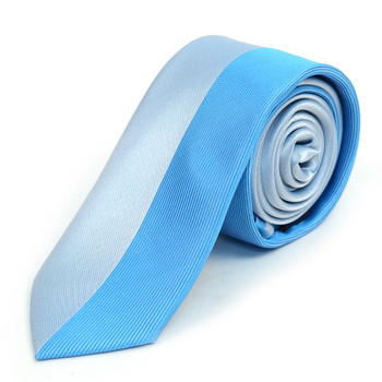 "Turquoise Microfiber Poly Woven 2.25"" Slim Panel Tie - MPPW1607"