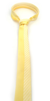 "Yellow Microfiber Poly Woven 2.25"" Slim Panel Tie - MPPW1612"