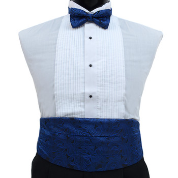 Men's Paisley Matching Cummerbund and Bow tie Set MPWCBBT/PSY