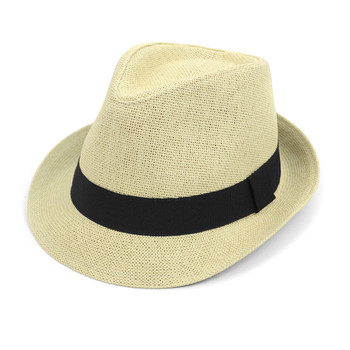 Spring/Summer Classic Woven Fashion Fedora with Black Band FSS17117