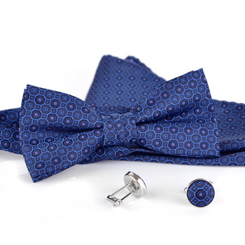 12pc Assorted Pack Men's Neat Pattern Boxed Bow Tie, Matching Hanky & Cufflinks BTHC1000NT