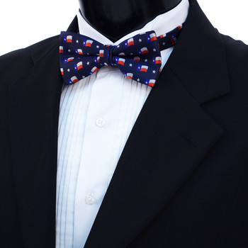 Men's Texas Flag Banded Bow Tie