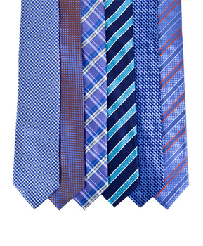 6pc Assorted Men's Micro Woven Zipper Ties MPWZ5320