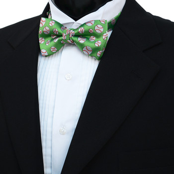 Men's Baseball Banded Bow Tie