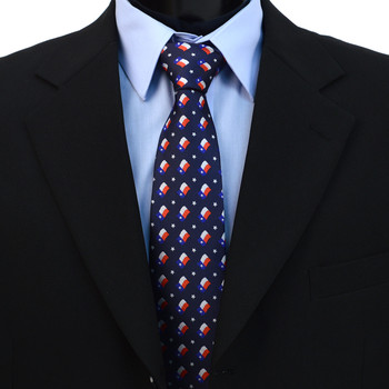 Texas Flag Pattern Novelty Tie