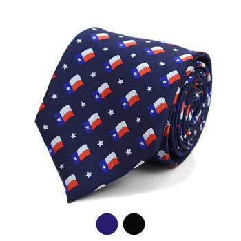 Texas Flag Pattern Novelty Tie