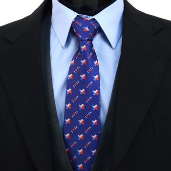 I Love Texas Pattern Novelty Tie