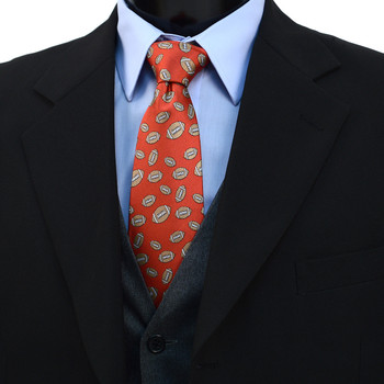 Football Pattern Novelty Tie