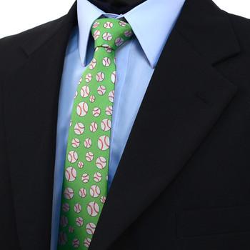 Baseball Pattern Novelty Tie