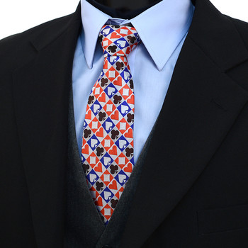 Checkered Poker Card Suits Novelty Tie