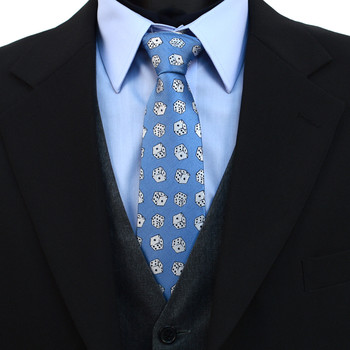 Dice Pattern Novelty Tie