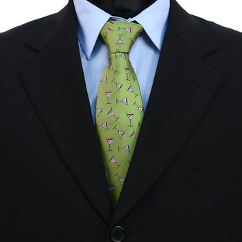 Martini Glass Pattern Novelty Tie