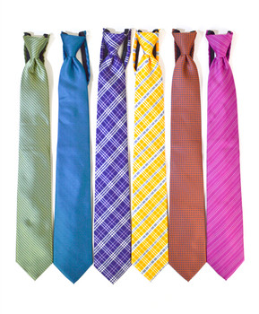 6pc. Assorted Men's Micro Woven Zipper Ties MPWZ5350