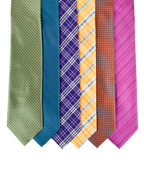 6pc Assorted Men's Micro Woven Zipper Ties MPWZ5350