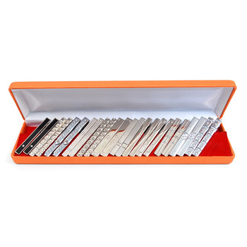 24pc Assorted Silver Tie Bars Set TBASST-SI