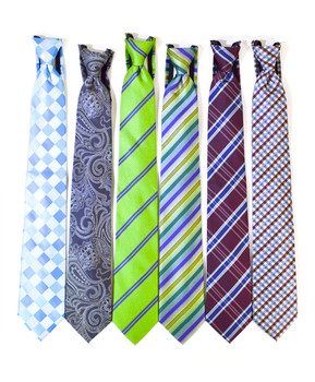 6pc. Assorted Men's Micro Woven Zipper Ties MPWZ5360