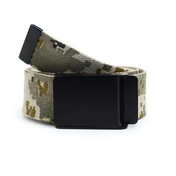 12pc Size Assorted Men's Flip-To Buckle Military Camo Canvas Belt MILB3307