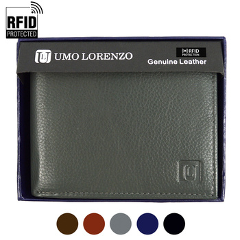 RFID Genuine Leather Bi-Fold Wallet RFID-GLBI