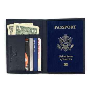 RFID Genuine Leather American Eagle Embossing Passport Case RFID-GLPC2
