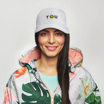 "Smiley ""Thank You"" Embroidered Baseball Cap H170429-03"