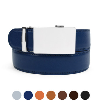 Men's Genuine Leather Sliding Buckle Ratchet Belt MGLBB48