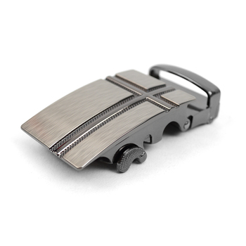 Men's Genuine Leather Sliding Buckle Ratchet Belt MGLBB26