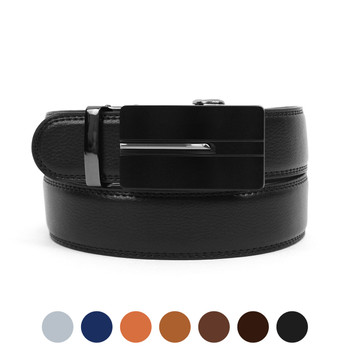 Men's Genuine Leather Sliding Buckle Ratchet Belt MGLBB27